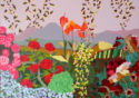 Garden at Mojacar, Oil on Canvas, 26.5 x 34.5 in.
